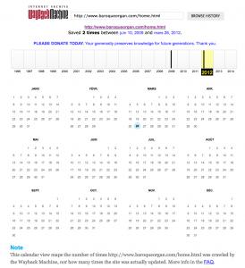 Le calendrier des captures du site