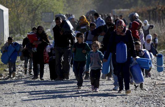 arrivée de migrants/réfugiés/immigrants/chances/déplacé on ne sait pus