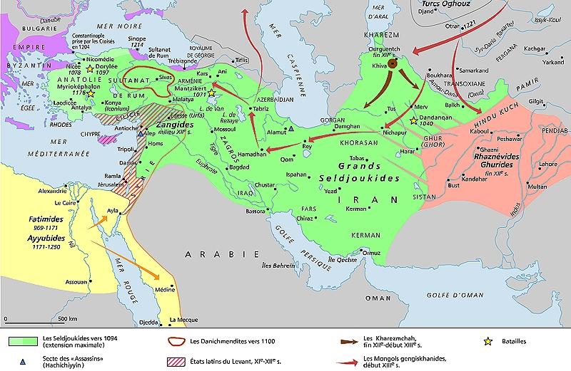 Seldjoukides , Chrétiens puis Mongols qui arrivent