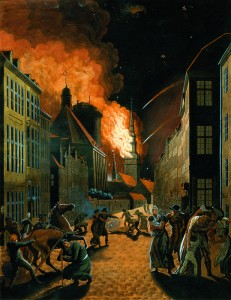 Copenhague en feu 1807