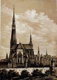 La grande flèche de la cathédrale